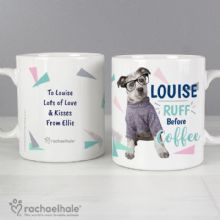Personalised Rachael Hale 'Ruff Before Coffee' Dog Mug  P0805I19